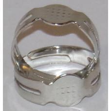 Ékszer Gyűrűalap Tárcsás 8mm Ezüst