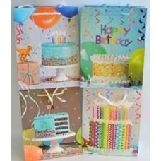 Dísztasak Happy Brithday 23*18*12cm 4F 12db/csomag