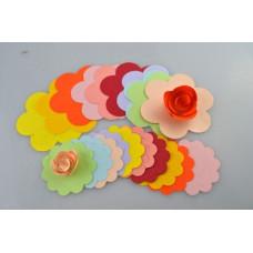 Qualling Papír Rózsa Forma
