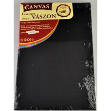 Festővászon Feszített 20*30 280gr Fakeretes Fekete