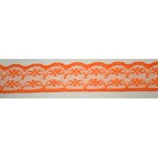 Ü.Csipke Nylon 2,3cm H.Narancssárga 20méter