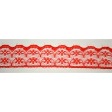 Ü.Csipke Nylon 2,3cm Piros 20méter