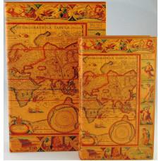 Papírdoboz Szett/2 Könyöv Alakú Térképes