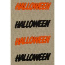 Filcfigurák Felírat Halloween 4db/csomag