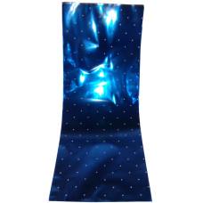 Celofán Tasak Asparagus Metál 18*45 Kék-Fehér Pöttyös 50 db/csomag