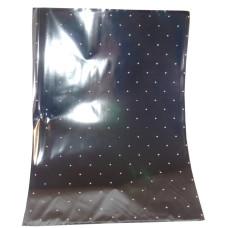 Celofán Tasak Asparagus Metál 25*35 Ezüst-Fehér Pöttyös 50db/csomag