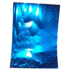 Celofán Tasak Asparagus Metál 25*35 Kék-Fehér Pöttyös 50db/csomag