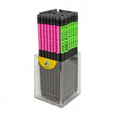 Ceruza (Grafit, Adél Mintás.Radíros Fekete Fa Noble) 72db/doboz