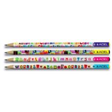 Ceruza (Grafit, Adél Mintás Harfler Letters) 72db/doboz