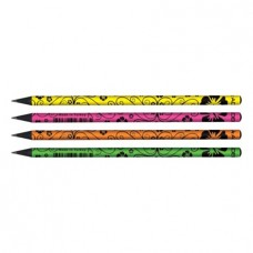 Ceruza (Grafit, Adél Mintás Fekete Fa Flowers) 72db/doboz