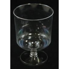 Műanyag Pohár (Talpas Boros 170 Ml Kristály) 10db/csomag