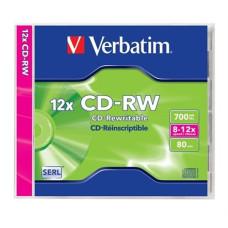 Cd-Rw Verbatim 700mb 8-12x Normál Tokos 10db/doboz