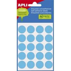 Etikett Címke Öntapadós Körcimke Apli Kék Írható 19mm 100 db/csomag