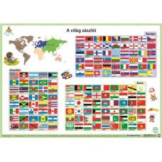 Könyöklő Stiefel 2 oldalas A/3 Világ Zászlói