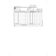 B.12-114/V Készletkivételezési Bizonylat 25*4 Victoria