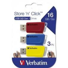 Pendrive 16 Gb Verbatim Store n Click 3db-os