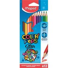 Ceruza (Színes Maped/12 Color Peps Háromszög)