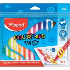 Zsírkréta (Maped Kitekerhető/12 Color Peps)