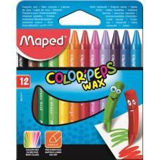 Zsírkréta (Maped Wax/12 Color Peps)