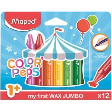 Zsírkréta (Maped Maxi Wax/12 Color Peps