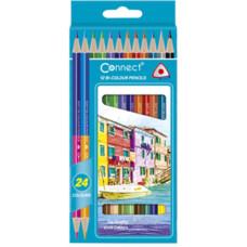 Ceruza (Színes Connect/12 Háromszögletű Kétvégű) 12 klt/doboz