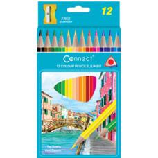 Ceruza (Színes Connect/12 Jumbo Háromszögletű) 6 klt/doboz