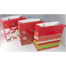 Dísztasak Karácsonyi GL J5-169 18*21*9cm 12db/csomag