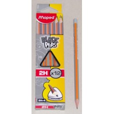 Ceruza (Grafit, Maped Black Peps 2H) 12db/csomag