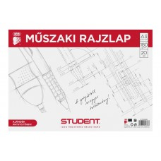 Műszaki Rajzlap (Ico Student A/3) 20ív/csomag