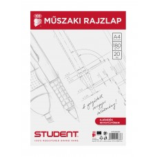 Műszaki Rajzlap (Ico Student A/4) 20ív/csomag