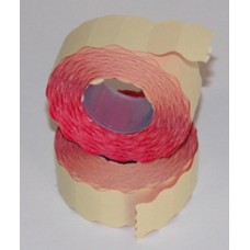 Árazószalag (22*12, Szines) Piros 10db/csomag