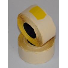 Árazószalag (22*12, Szines) C.Sárga 10db/csomag