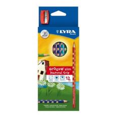 Ceruza (Színes Lyra/12 Groove Slim+hegyező 2821120)