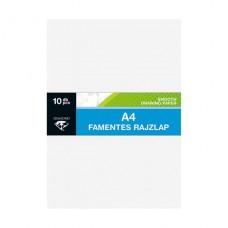 Rajzlap (A/4 Famentes Fehér Lizzy 120gr 10db/csomag) 50csomag/gyűjtő