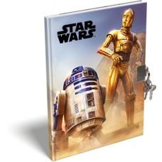 Emlékkönyv L-C Kemény Táblás A/5 Star Wars Classic Droids