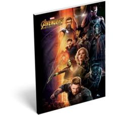 Notesz L-C Papír Fedelű A/7 Avangers Infinity War Heroes 10db/csomag