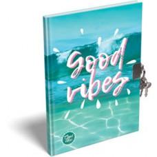 Emlékkönyv L-C Kemény Táblás A/5 Good Vibes Ocean