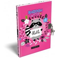 Emlékkönyv L-C Kemény Táblás A/5 21 Lollipop Raccoon Sweetie