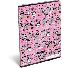 Füzet (A/4 L-C 21 80-32 Lollipop Raccoon Sweetie) 10db/csomag