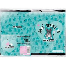 Füzetborító A/5 L-C 21 We Love Dogs Blue 10db/csomag