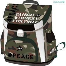 Hátizsák L-C 21 Iskolatáska Peace Alpha Tango Mike