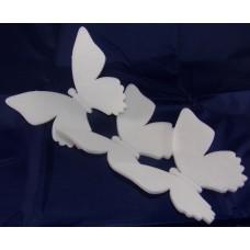 Ü.Polisztirol Pillangó 3D 3db/csomag