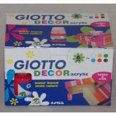 Akrilfesték/6 Klt 6*25ml Giotto
