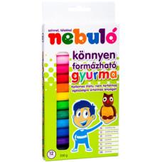 Gyurma (Nebulo Színes 12 szín 200gr) 24db/doboz