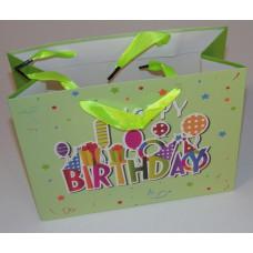 Dísztasak Happy Birthday 23*18*10 cm 12db/csomag