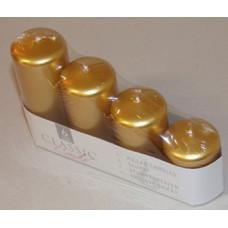 Gyertya Adventi Egyszínű Metál 4 Méret 4db/csomag Arany