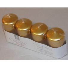 Gyertya Adventi Egyszínű Metál 4db/csomag Arany