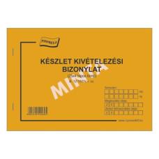 B.12-137/V Készlet Kivételezési Bizonylat 10 Tételes B/5