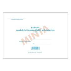 B.12-172/A  Eszköznyilvántartó Füzet 123 Tételes A/5 Fekvő