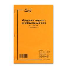 B.C.3410-346/V Gyógyszer-Vegyszer-Kötszerigénylő 25*3 A/4